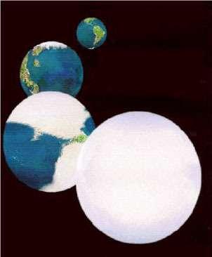 Notre Terre, une boule de neige ? Un modèle qui ne fait pas tout à fait l'unanimité... Crédits : NASA