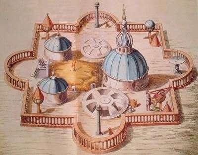 L'observatoire astronimique de Tycho Brahé.