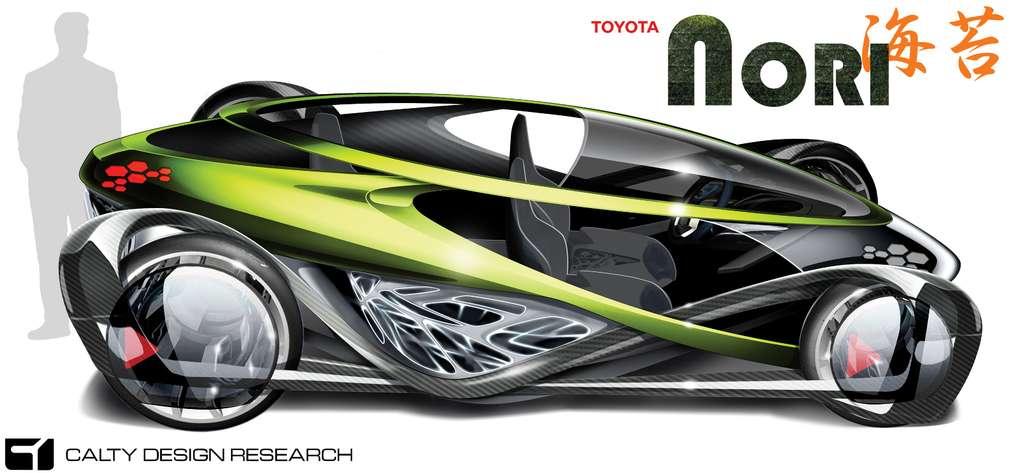 La Nori, présentée par Toyota au salon de Los Angeles 2010, est fabriquée avec des pièces développées par un mode de tissage de fibre de carbone. © Toyota