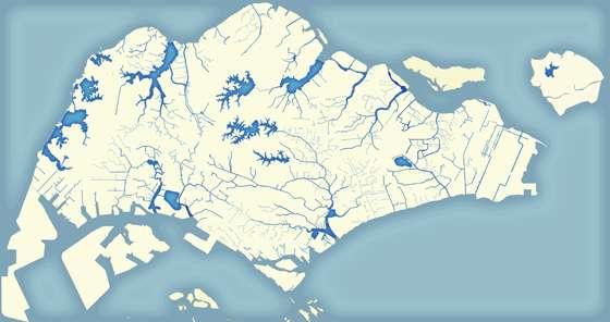 Les réservoirs naturels de l'eau à Singapour, alimentés par la pluie et entretenus par les Hommes. Pour ce territoire petit mais très peuplé, où on veut éviter de gâcher la moindre goutte, cette source est l'un des « robinets nationaux », selon l'expression officielle. Mais il ne suffit pas... © PUB