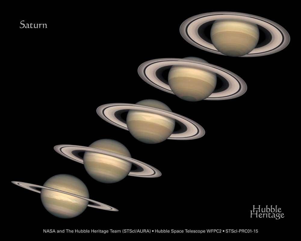 Hubble : Saturne