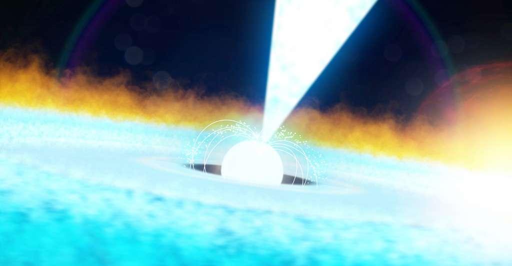Grâce à Nicer, la Nasa a enregistré un flash de rayons X d'une incroyable intensité. Le résultat d'une explosion thermonucléaire sur un pulsar baptisé J1808. Et dont les caractéristiques intriguent les astronomes. © Goddard space flight center, Nasa