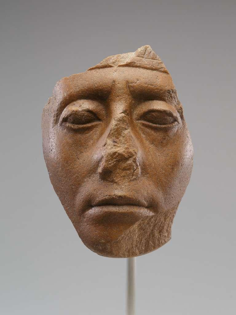 La tête de Senwosret III (ou Sésostris III), cinquième roi de la XIIe dynastie. © The Metropolitan Museum of Art