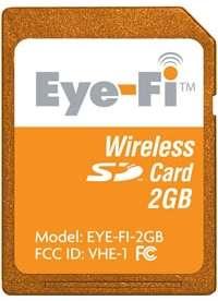 La carte mémoire ne se distingue en rien d'un modèle SD classique mais, avec 2 Go, elle n'est pas une championne de la capacité. © Eye-Fi