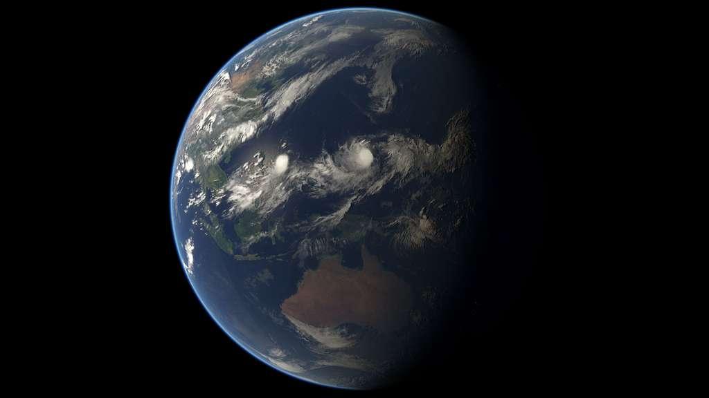 Sur cette image acquise par MSG-3, on peut voir les tempêtes tropicales Chan-Hon & Raquel et la dépression tropicale 10. © Eumetsat