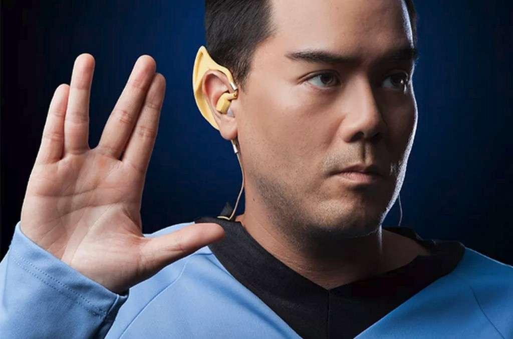 Les écouteurs sans fil Bluetooth Vulcan. © ThinkGeek