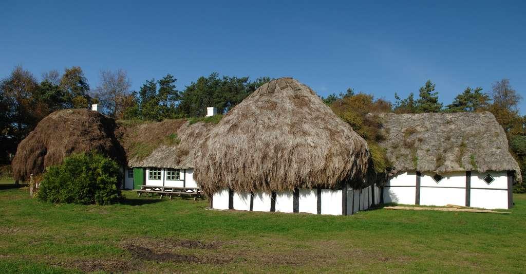Ferme traditionnelle sur l'île de Læsø, au Danemark
