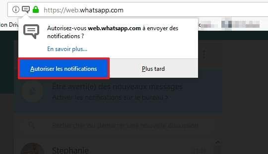 Cliquez sur « Autoriser les notifications ». © Facebook