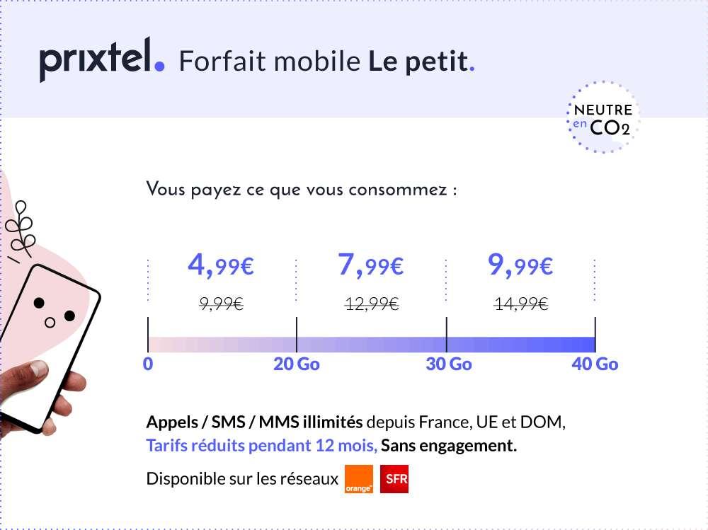 Profitez d'un forfait flexible à petit prix © Prixtel