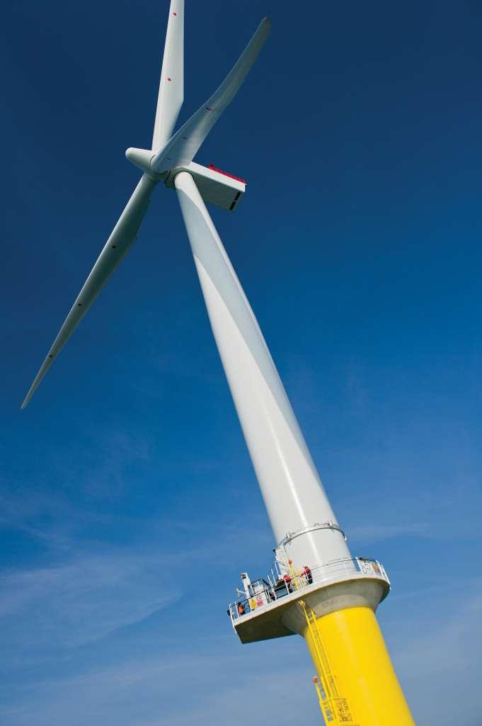 Les éoliennes du London Array sont prévues pour tourner 24h/24 et 7j/7 durant 20 ans. © London Array