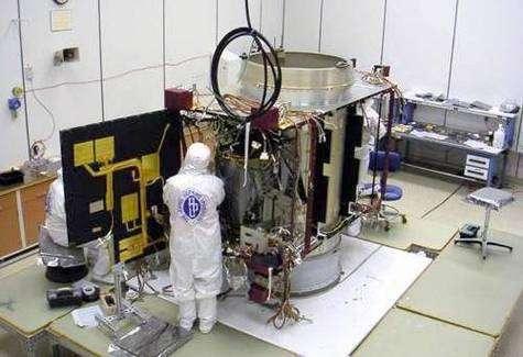 Une des deux sondes STEREO en voie d'achèvement au laboratoire de physique appliquée de l'université John Hopkins