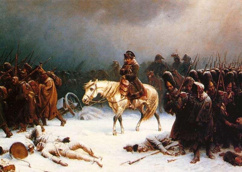 La retraite de Russie illustrée par Adolph Northen. Des 500.000 soldats qui ont franchi le Niémen, moins de 30.000 reviendront au même point. © DP