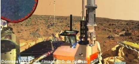 Panorama final. © Données Nasa/JPL / Images © O. de Goursac