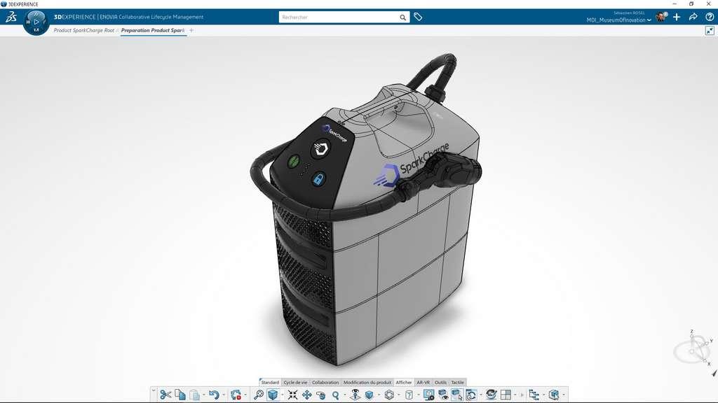 Modélisation de la recharge Sparkcharge en 3D ©3DEXPERIENCE Lab
