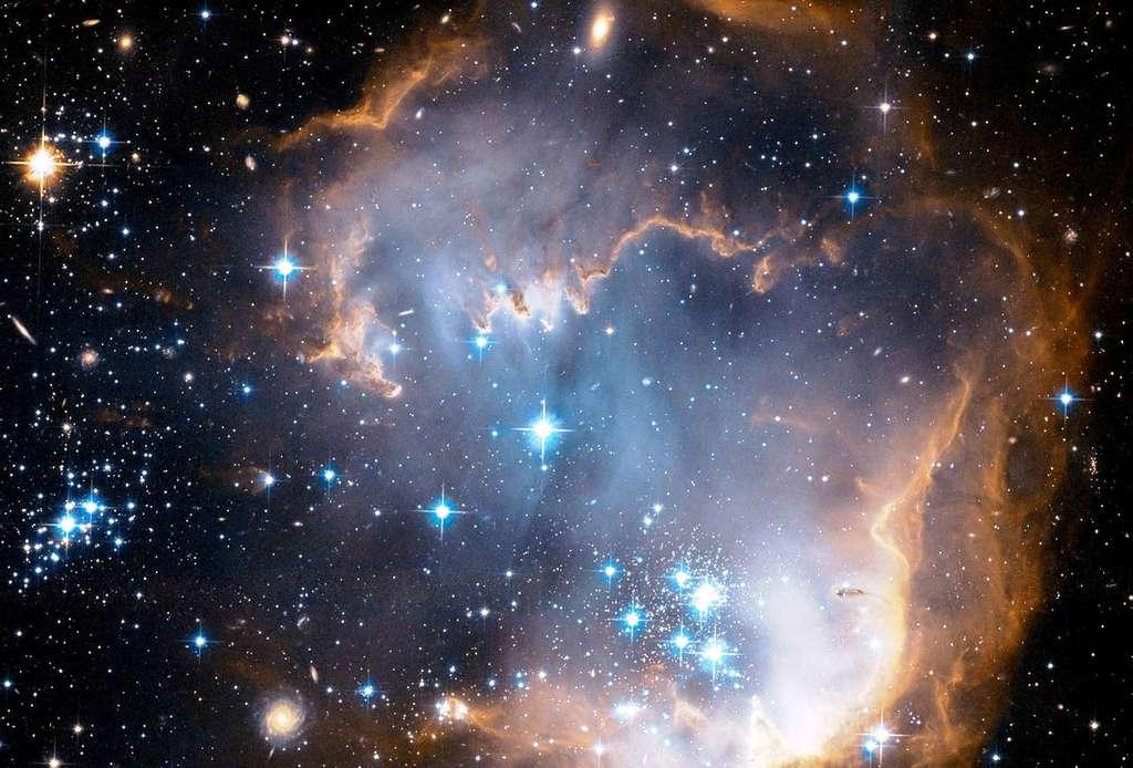 Située à 200.000 années-lumière dans la constellation de l'Hydre, NGC 602 est une nébuleuse où de jeunes étoiles se forment. © Nasa, Esa and the Hubble Heritage Team (STScI/AURA)