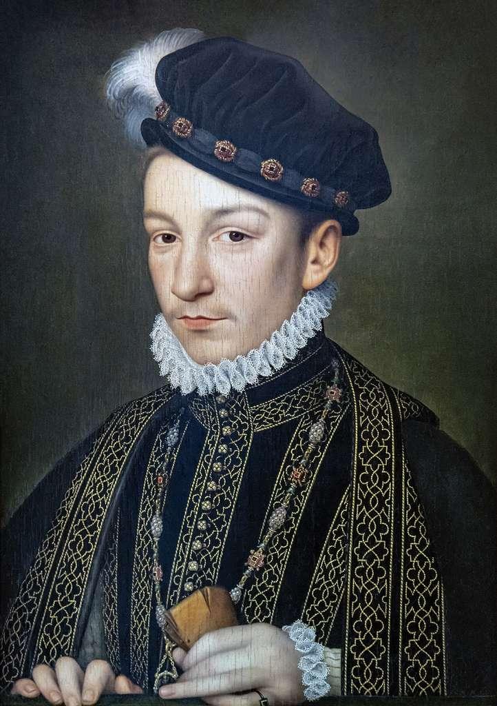 Portrait du roi Charles IX par François Clouet, vers 1566. Musée de la Fondation Bemberg, Hôtel d'Assezat, Toulouse. © Musée de la Fondation Bemberg, Wikimedia Commons, domaine public