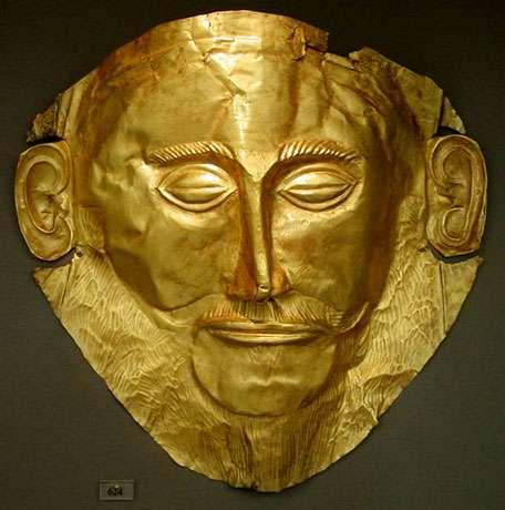 Masque d'Agamemnon, Musée national d'archéologie, Athènes.