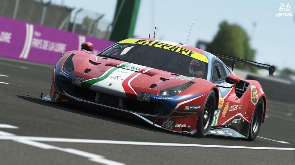 Ferrari fait partie des grands constructeurs qui s'aligneront au départ des 24 Heures du Mans virtuelles. © Les 24 Heures du Mans