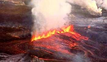 Une éruption fissurale en vue aérienne. © Image Futura-Sciences retouchée et recadrée