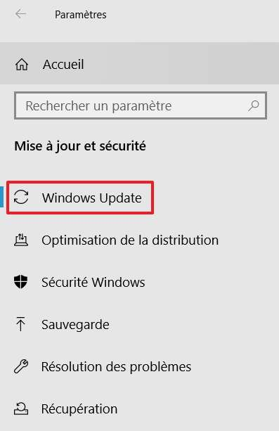 Allez dans Windows Update si vous n'y êtes pas déjà. © Microsoft
