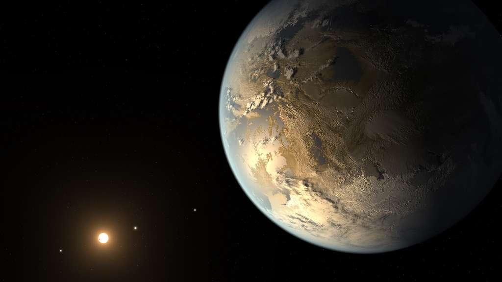 Illustration de Kepler-186f, première exoterre découverte dans la zone habitable d'une étoile. © Nasa, Ames, JPL-Caltech, T. Pyle