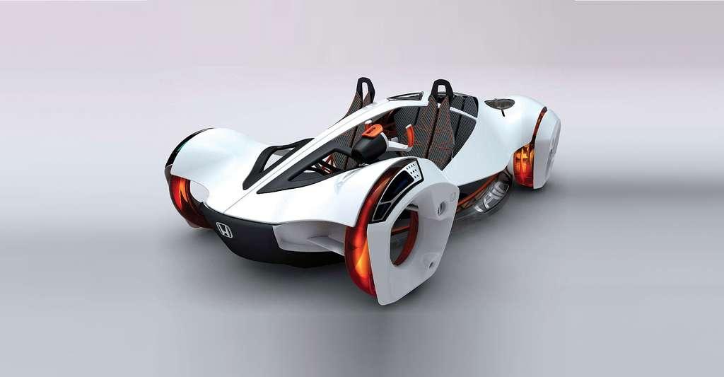 La voiture du futur devra être à l'image des efforts de la société : non polluante. Ici, la Honda Air à moteur à air comprimé, présentée au salon de Los Angeles 2010. © Honda