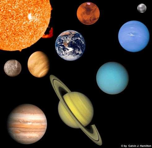 Avec la découverte de nombreuses planètes extrasolaires, notre Système solaire a perdu son rang de star pour entrer dans le quasi anonymat. © Calvin J. Hamilton