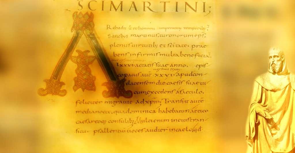 Vita sancti Martini par Grégoire de Tours. © Grégoire de Tours, Wikimedia commons, DP