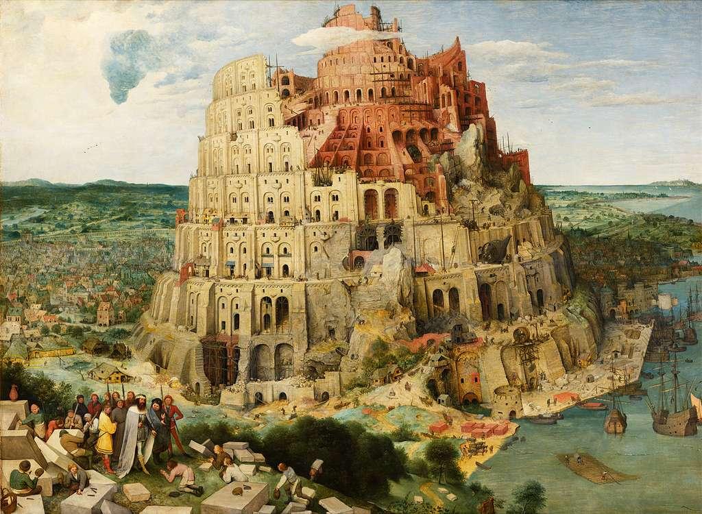 Depuis l'abandon de la tour de Babel, affirme la Bible, voire depuis les origines de notre espèce, les Hommes parlent de nombreuses langues différentes. Le sommeil, semble-t-il, peut nous aider à apprendre celles des autres. © Domaine public