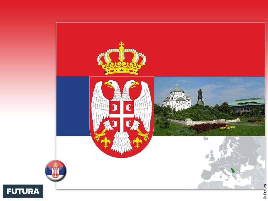 Drapeau : Serbie