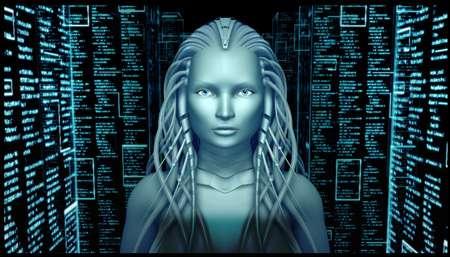 Cet oracle futuriste est l'un des tout premiers avatars 3D. Il a été créé dans le cadre du projet Eva par les étudiants de l'Institut international de multimédia en 2007. © IIM