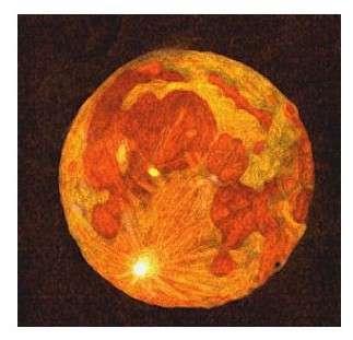 Pleine lune, peinture de Tymax.