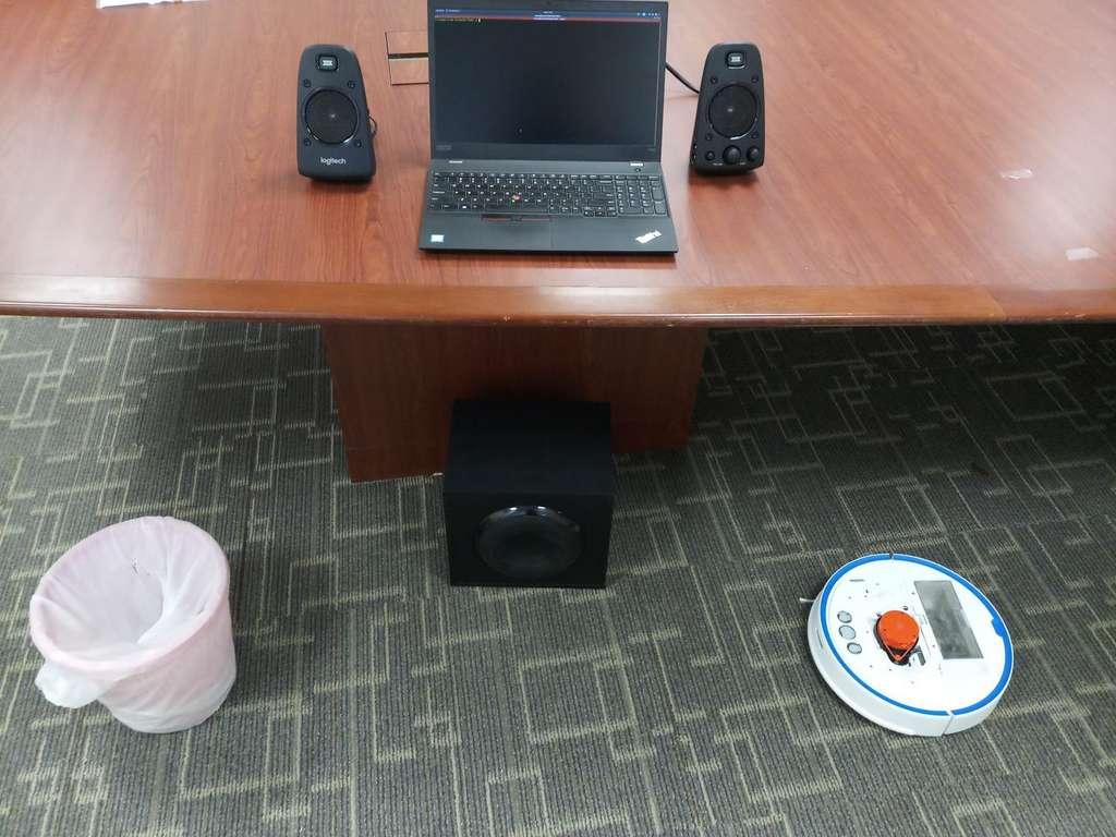 Voici la configuration de l'espace utilisé pour la démonstration. © Sriram Sami