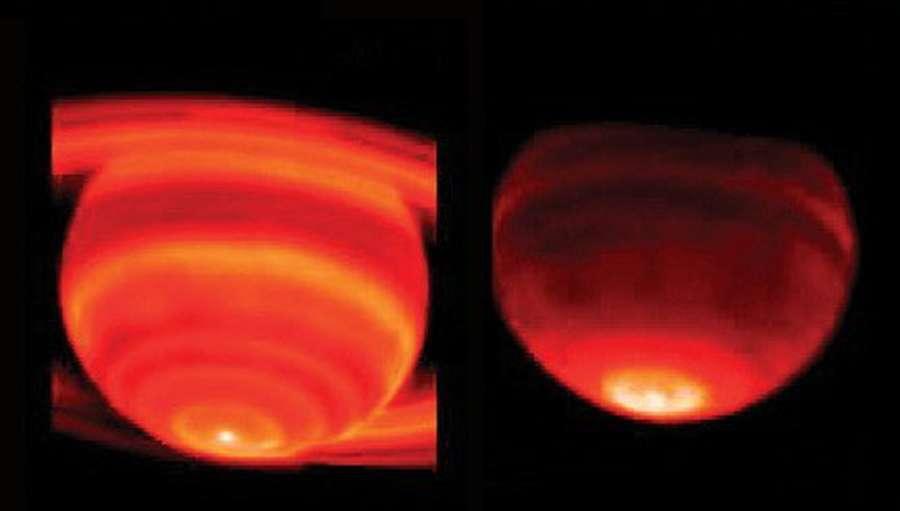 Saturne : hot spot / point chaud
