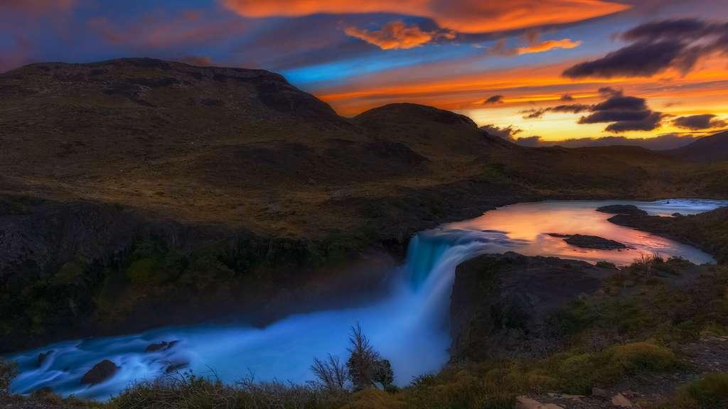 Le Salto Grande au coucher de soleil