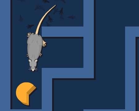 Le robot, à l'image du rat, doit pouvoir se localiser dans l'espace et atteindre un but. © Quest for Cheese