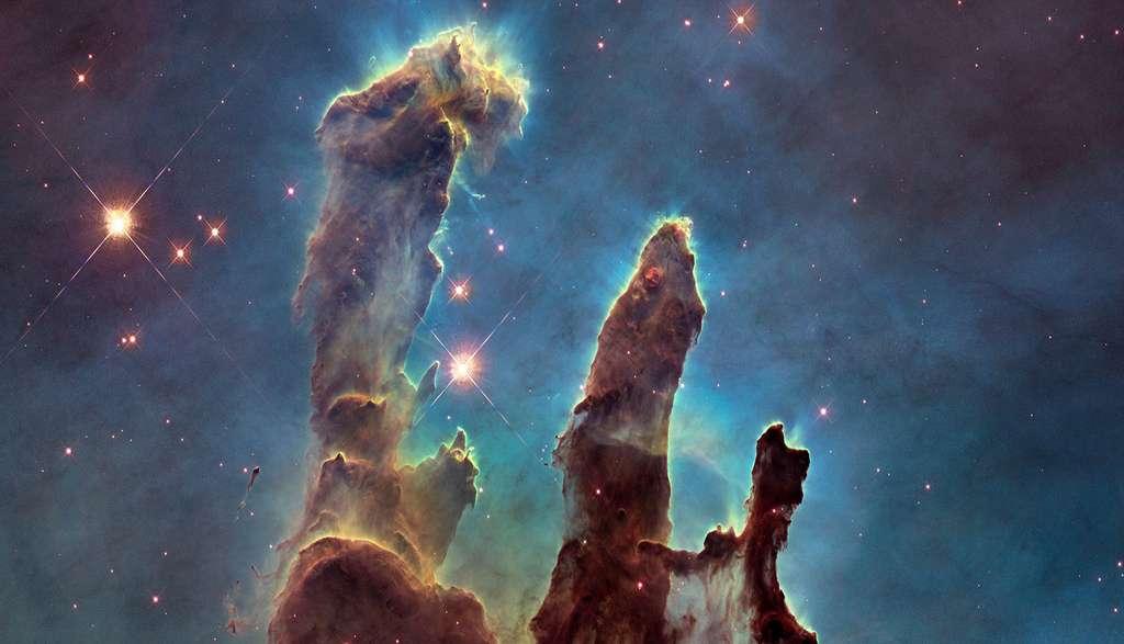 « Les piliers de la création » dans l'œil d'Hubble