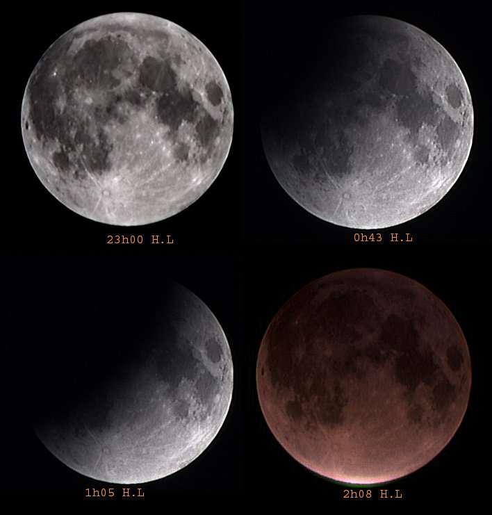Eclipse Totale de Lune des 08-09 Novembre 2003