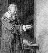 Disciple et fervent admirateur d'Aristote, l'Italien Galileo Galilei, dit Galilée, est plutôt perçu comme le premier à avoir remis en cause son enseignement. © DR