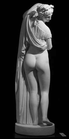 La taille étroite de l'Aphrodite Callipyge, dite Vénus callipyge, serait un signe universel de beauté féminine. © Musée national, Naples