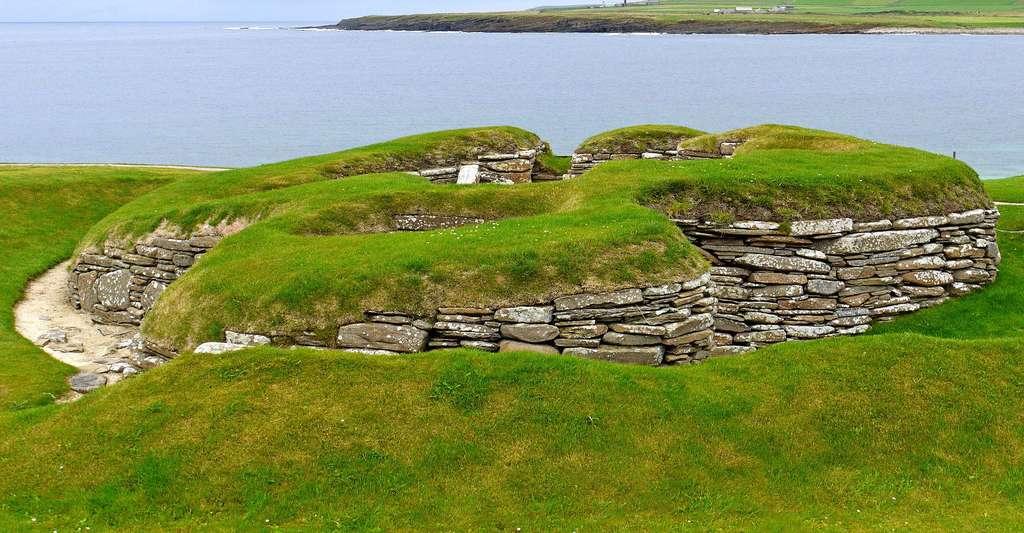 Comment était l'Écosse à la Préhistoire ? Ici, un groupe de maisons de Skara Brae. © Daniel Bordeleau, Wikimedia Commons, CC by-sa 4.0