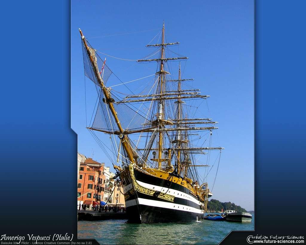 L'Amerigo Vespucci, du nom du navigateur italien