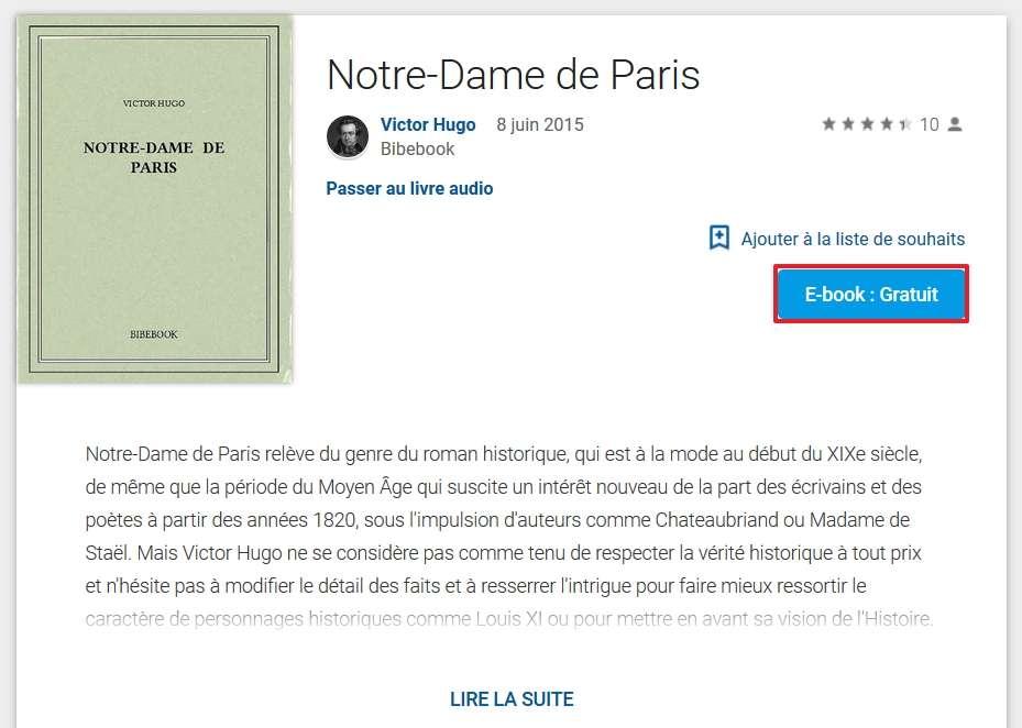 Cliquez sur le bouton « E-book : gratuit » pour ajouter le titre à votre bibliothèque. © Google Inc.