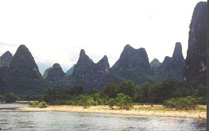 Karst de la région de Guilin en Chine
