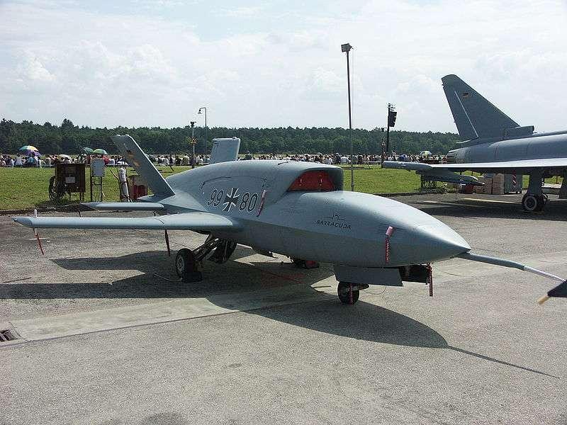 Le drone militaire Barracuda, construit par EADS. © Jean-Patrick Donzey
