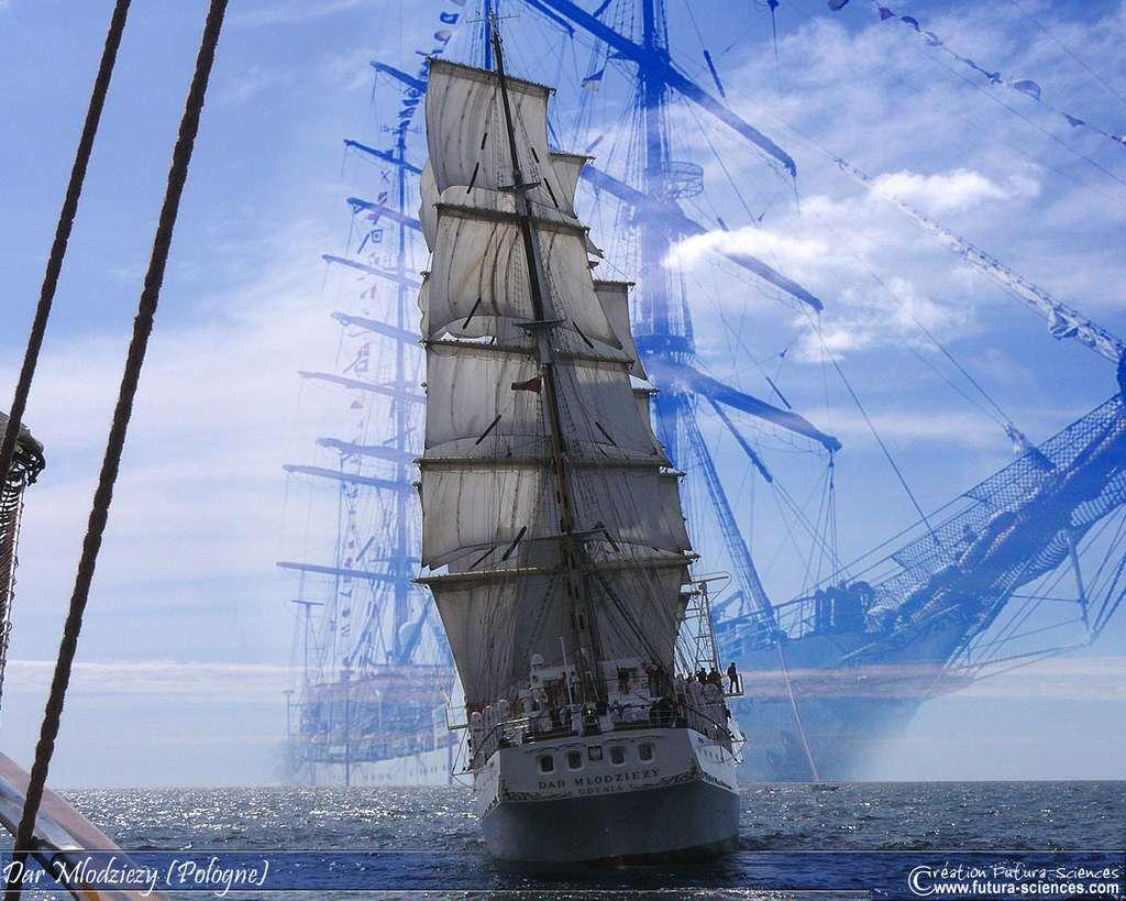 Le Dar Młodzieży, un voilier polonais en acier