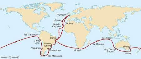Le voyage du Beagle. © Commons