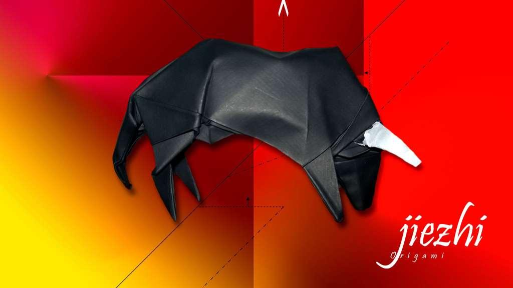 Un taureau en papier