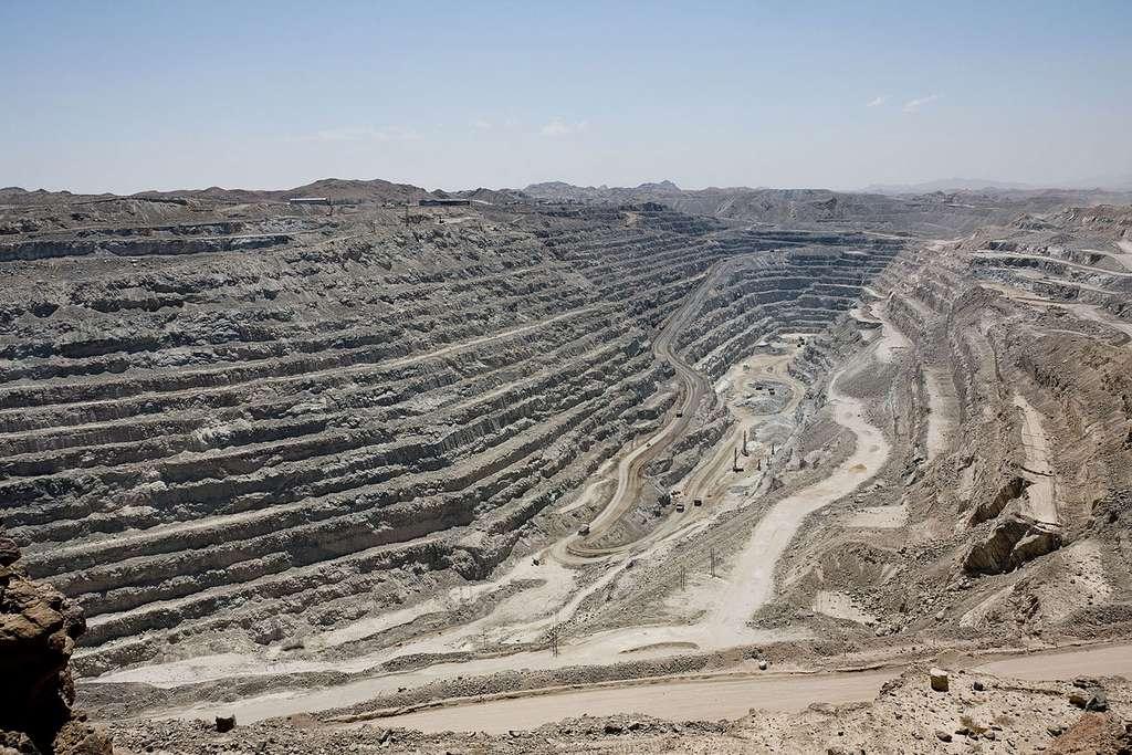 Vue générale de la mine d'uranium de Rössing, en Namibie. © Ikiwaner, Wikimedia Commons, GNU 1.2