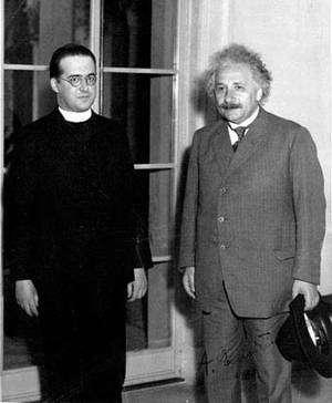 G. Lemaître (à gauche) rencontra Einstein à plusieurs reprises. Crédit Royal Astronomical Society